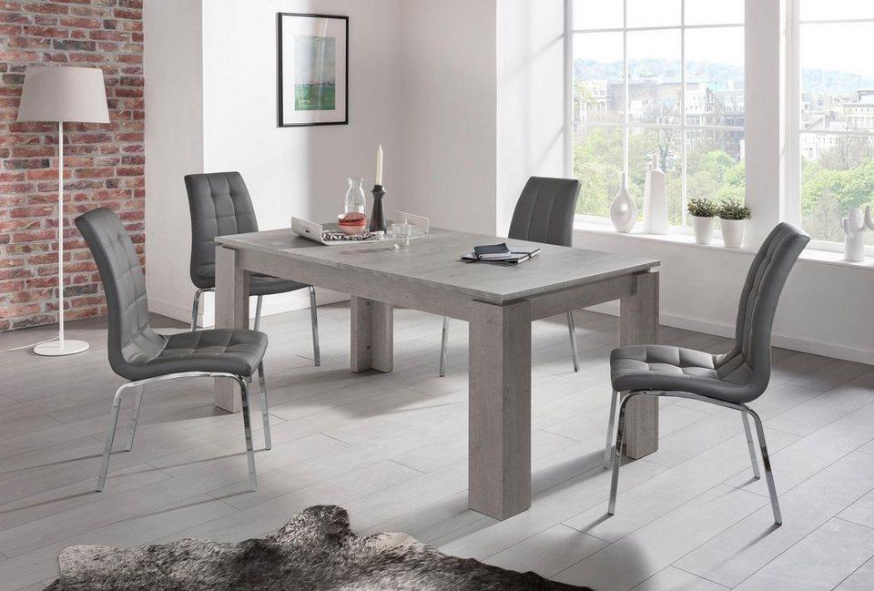 esstisch betonoptik affordable beliani esstisch cm aus beton xxl tisch gartentisch betontisch. Black Bedroom Furniture Sets. Home Design Ideas
