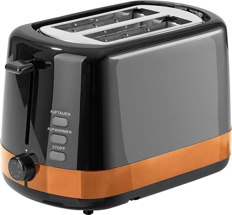 GOURMETmaxx Toaster GOURMETmaxx Toaster 850W kupferfarben, 2 kurze Schlitze, für 2 Scheiben, 850 W