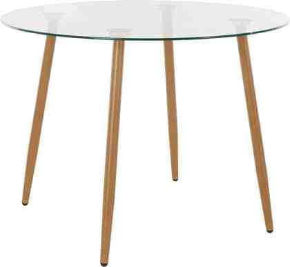 Glastisch, rund, Durchmesser 100 cm