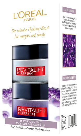 L'ORÉAL PARIS Gesichtspflege-Set »RevitaLift Filler [HA] Tag und Nacht«, 2-tlg., enthält Hyaluronsäure