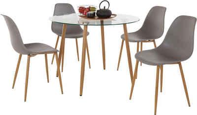 Mit 4 Sthlen Finest Tischgruppe Esstisch Mit Sthlen Braun