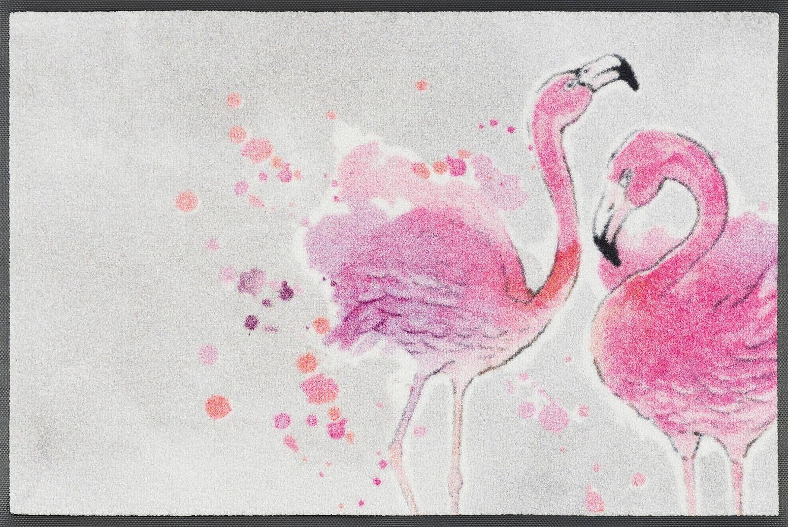 Fußmatte »Flamingo«, wash+dry by Kleen-Tex, rechteckig, Höhe 7 mm