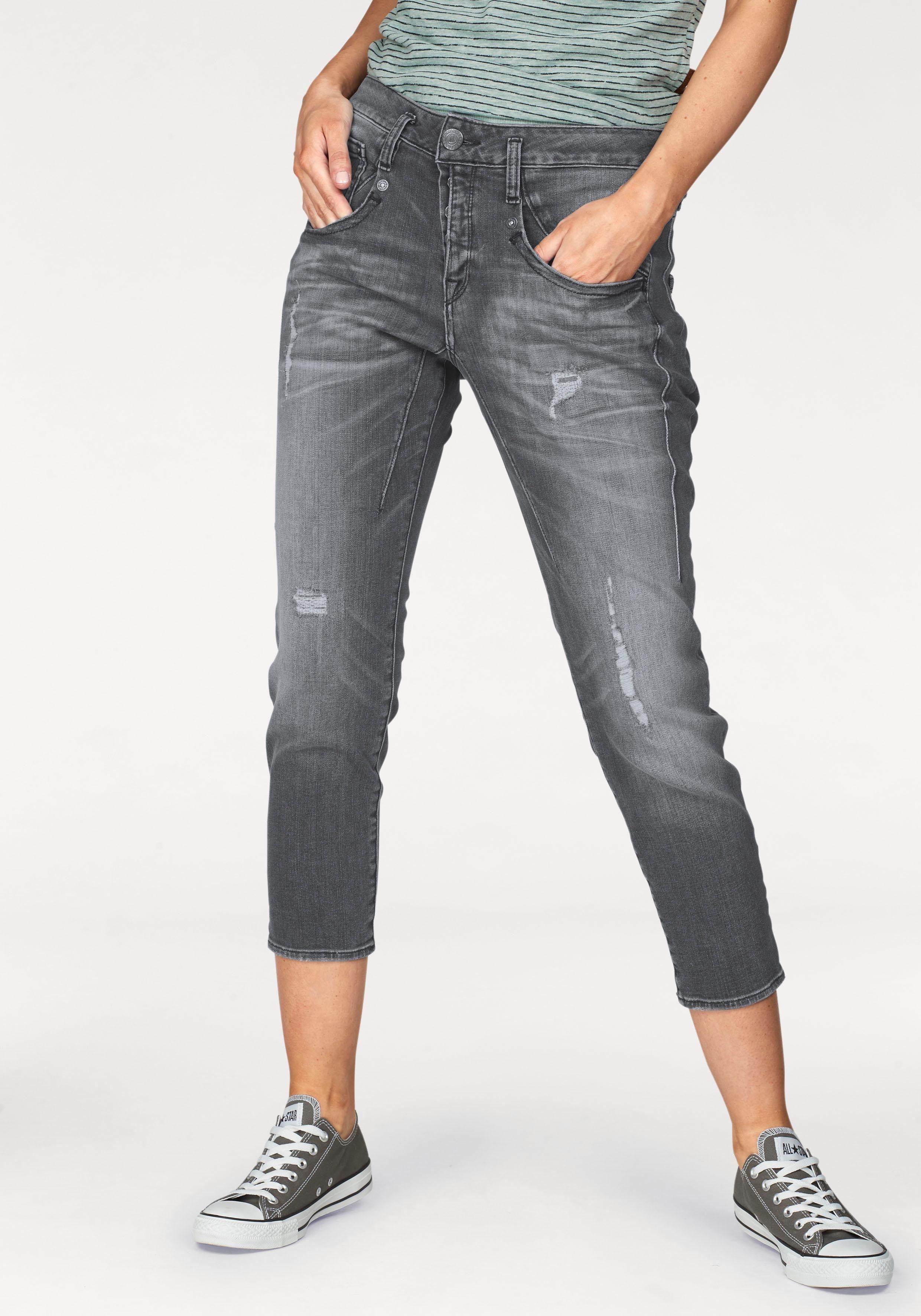 Herrlicher Ankle-Jeans »SHYRA CROPPED« High Waist Boyfriend-Fit