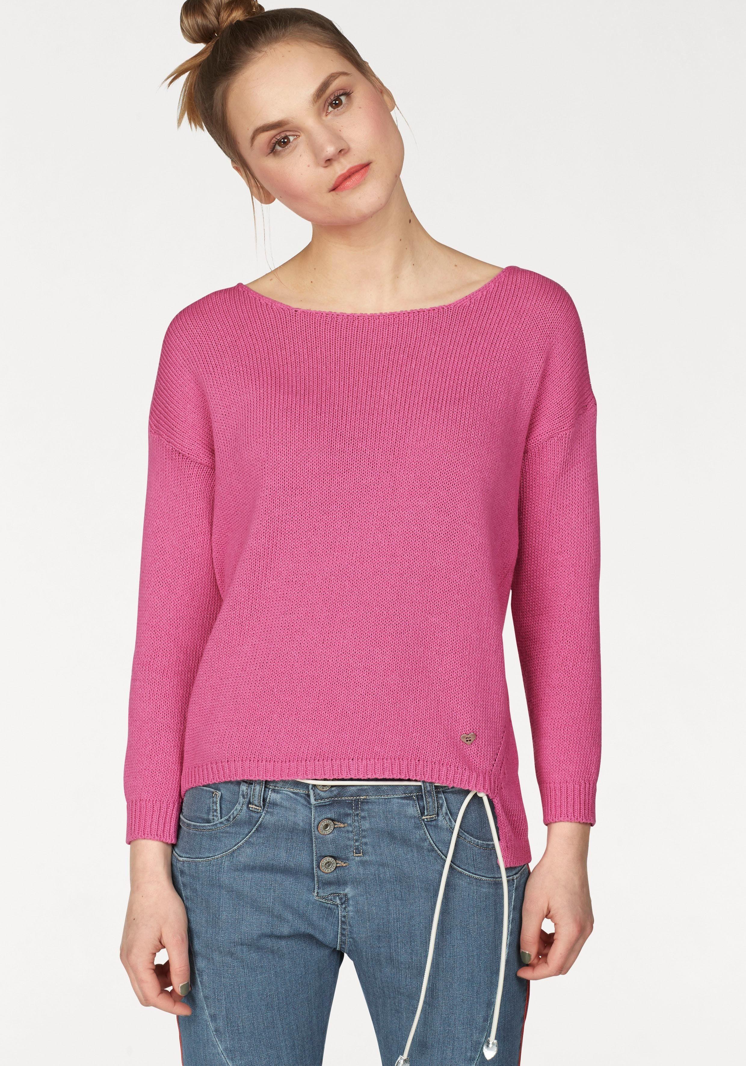 Please Jeans Strickpullover mit vorverlegter Seitennaht