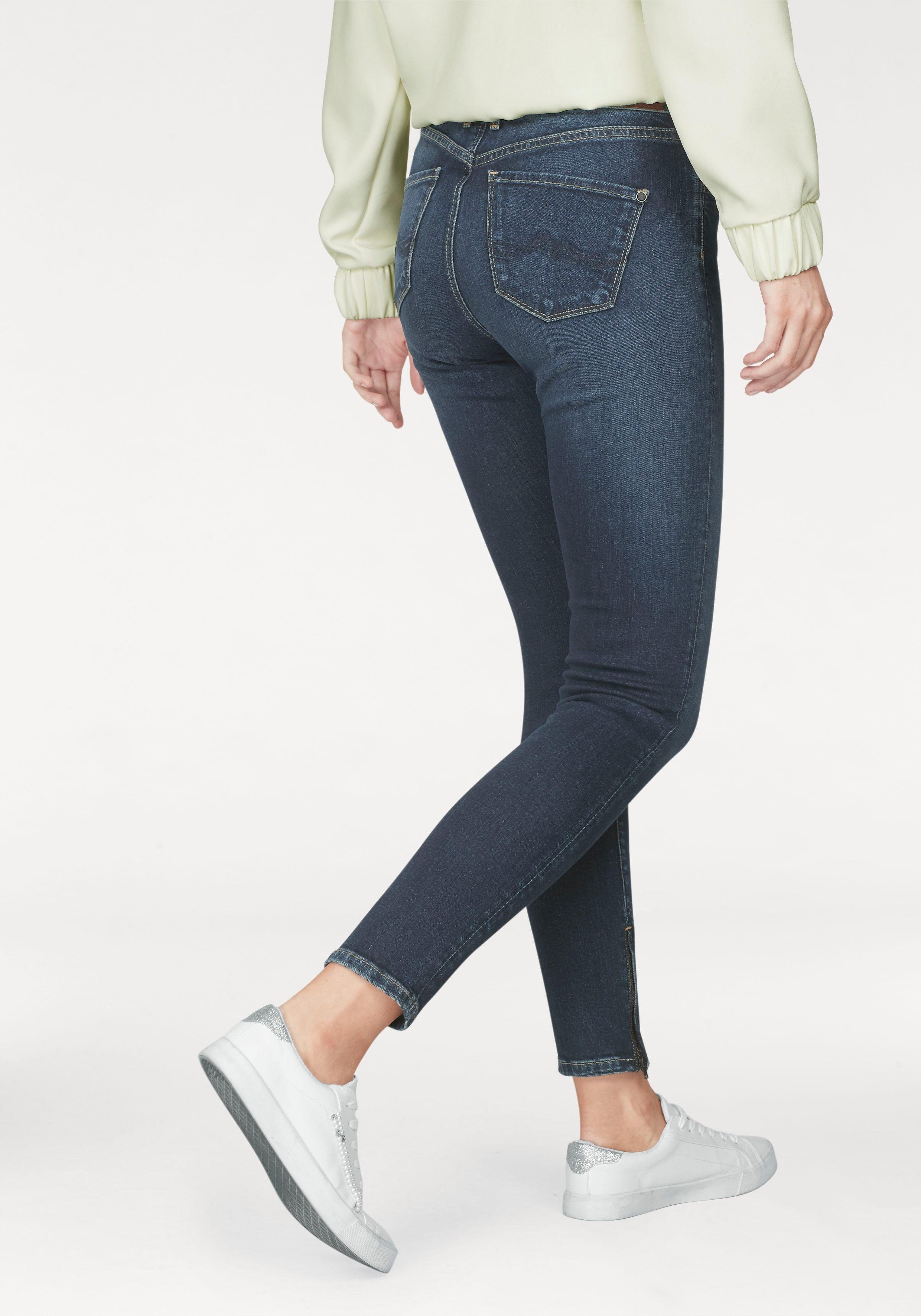 Pepe Jeans Skinny-fit-Jeans »CHER HIGHWAIST«, mit Zip-Detail