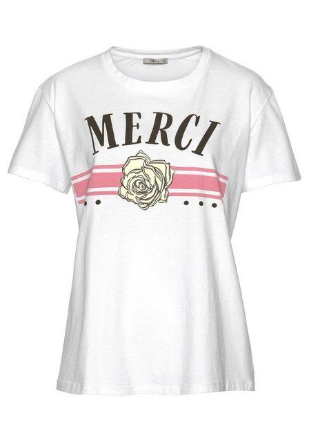 Damen LTB T-Shirt ZOKOME mit modischem Print weiß | 08697600818047