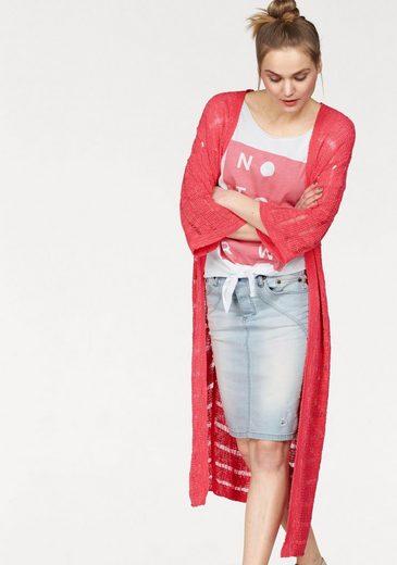 Mit Durchscheinendem Jeans Streifeneffekt 1 Please tlg Cardigan Luftigem »m36lopp« XxnwUg