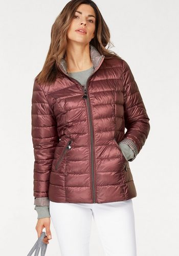 Damen Danwear Steppjacke leichte Steppjacke wie mit Daunen wattiert rosa | 05710289039572