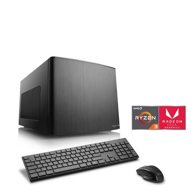 CSL Mini-ITX PC | Ryzen 3 2200G | Radeon Vega 8 | 16 GB DDR4 | SSD »Gaming Box T8584 Windows 10«