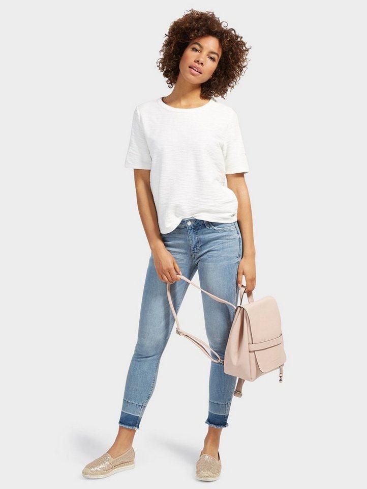tom tailor denim 7 8 jeans nela extra skinny mit knopf. Black Bedroom Furniture Sets. Home Design Ideas