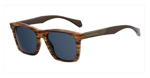 Boss Herren Sonnenbrille » BOSS 0911/N/S«, braun, KVI/KU - braun/blau