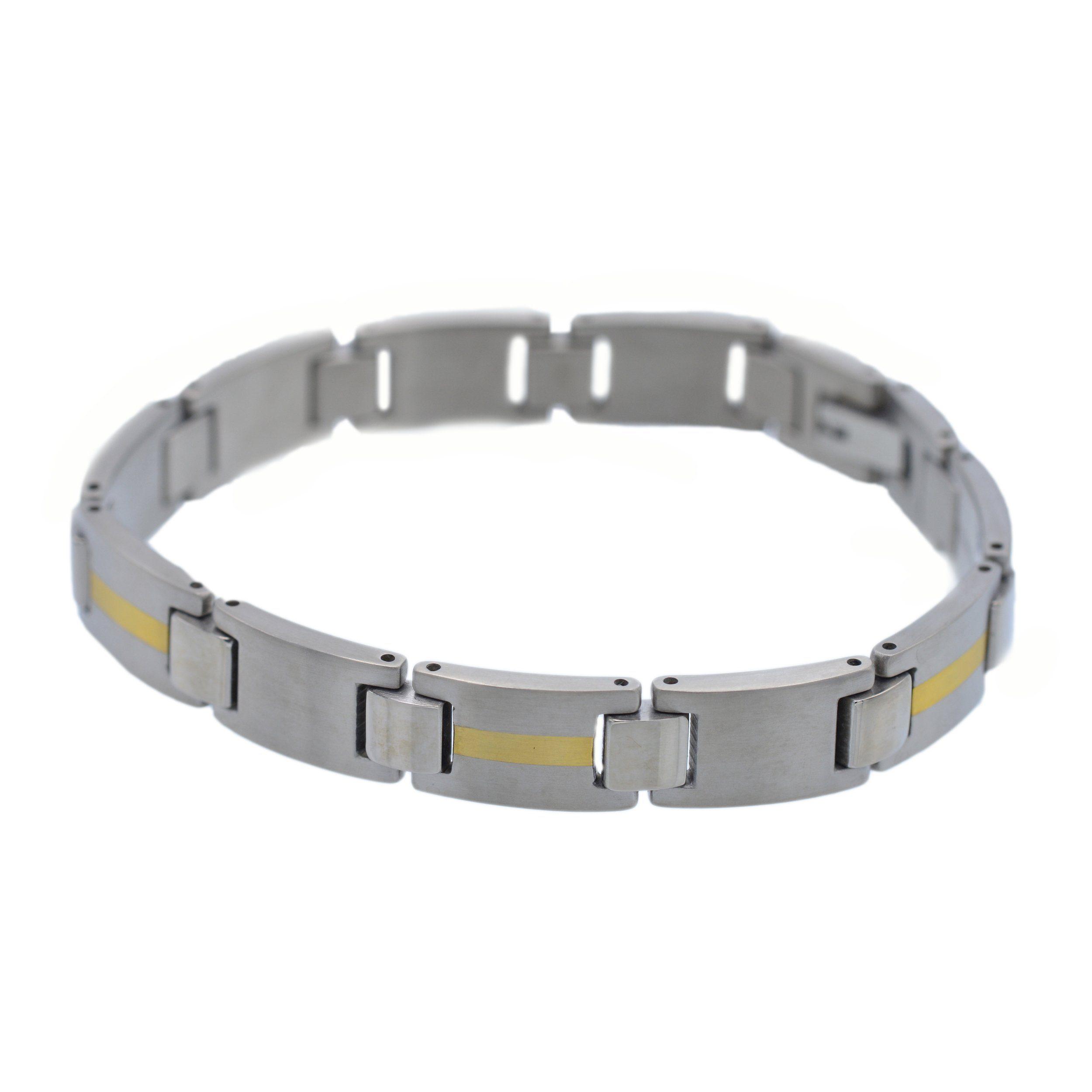 Firetti Armband aus Titan mit 585er Goldeinlage