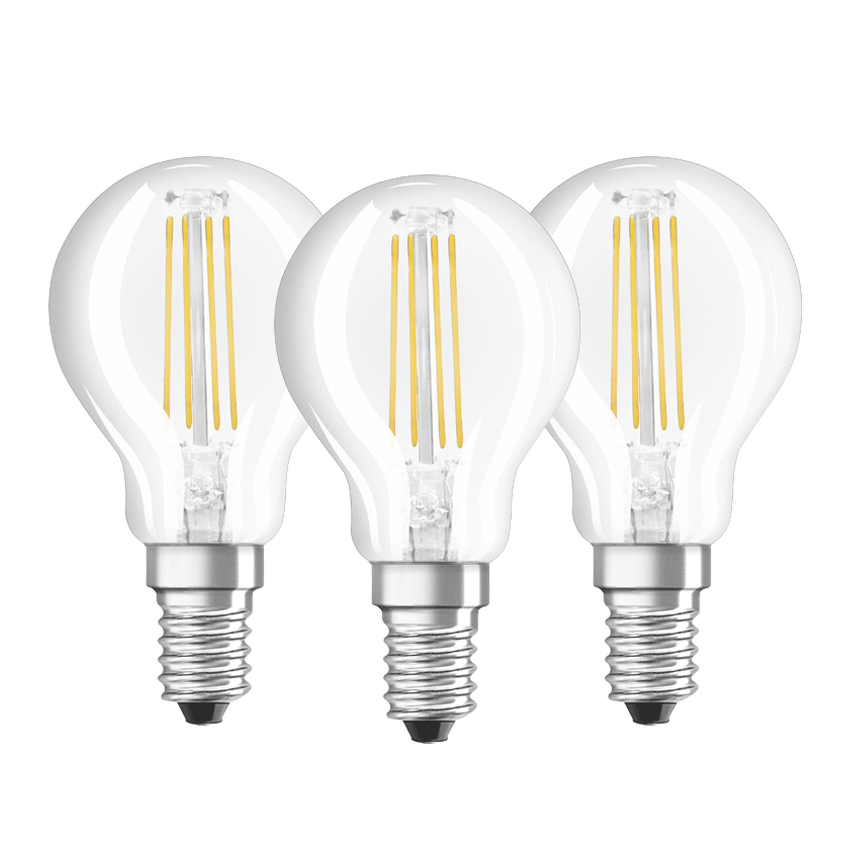 Osram 3er Set LED BASE CLASSIC P, LED Lampen »VALUE CLAS P 40 4 W/827 E14«