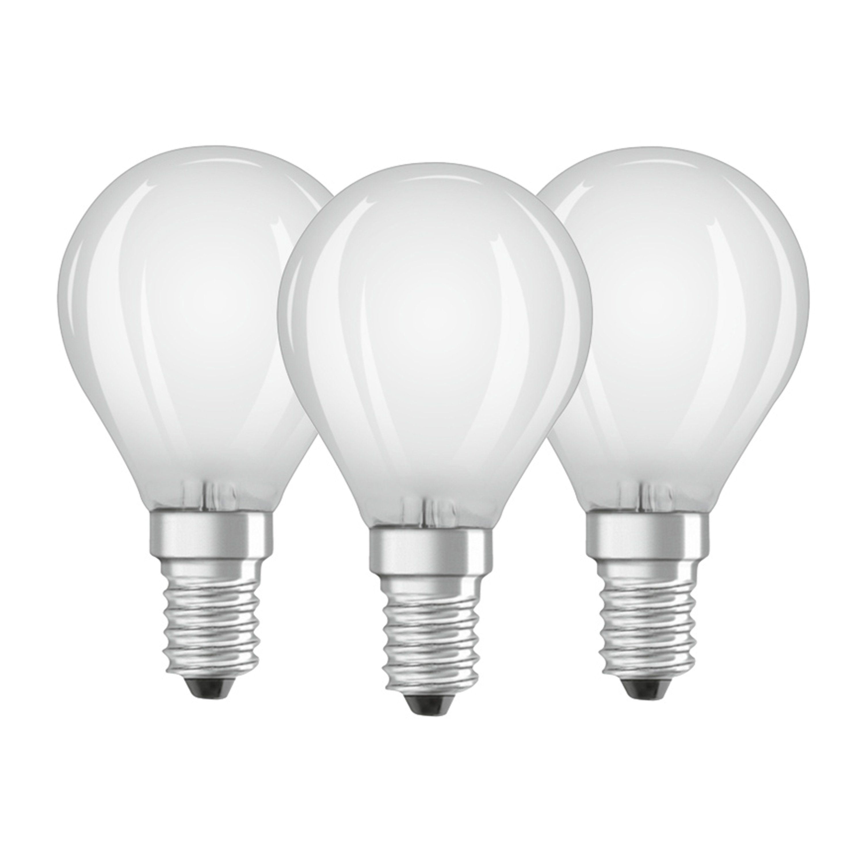 Osram 3er Set LED BASE CLASSIC P, Matte LED Lampen »VALUE CLAS P 40 4 W/827 E14«