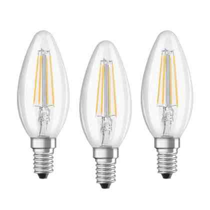 Osram 3er Set LED CLASSIC B, LED Lampen »BASE RF CLAS B 40 4 W/827 E14 FIL«