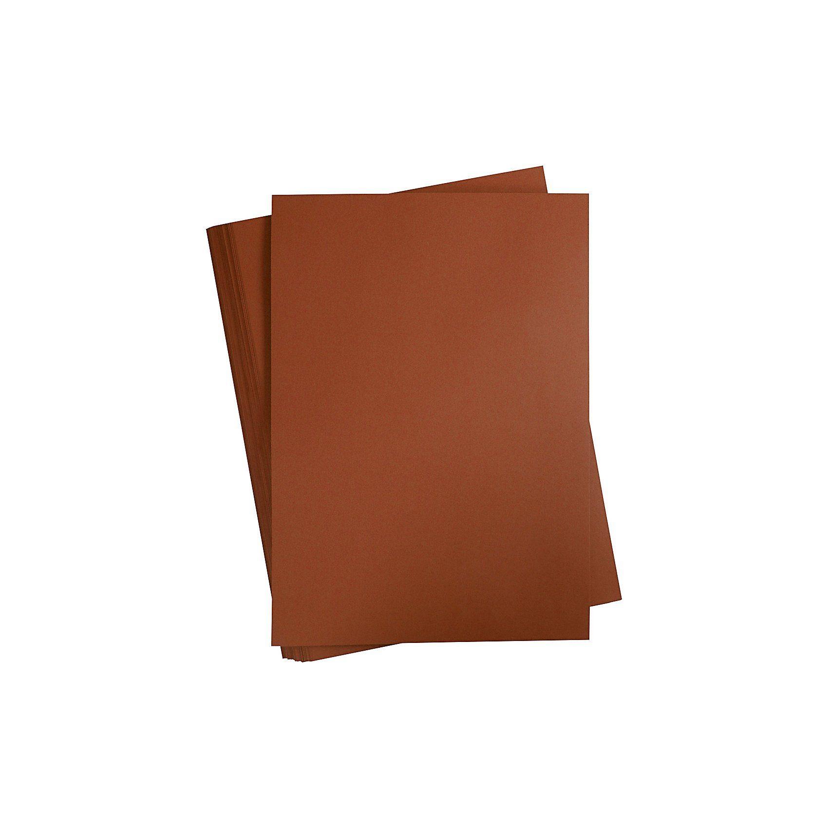 Karton, farbig, A2 420x600 mm, 180 g, Kaffeebraun, 100 Blat