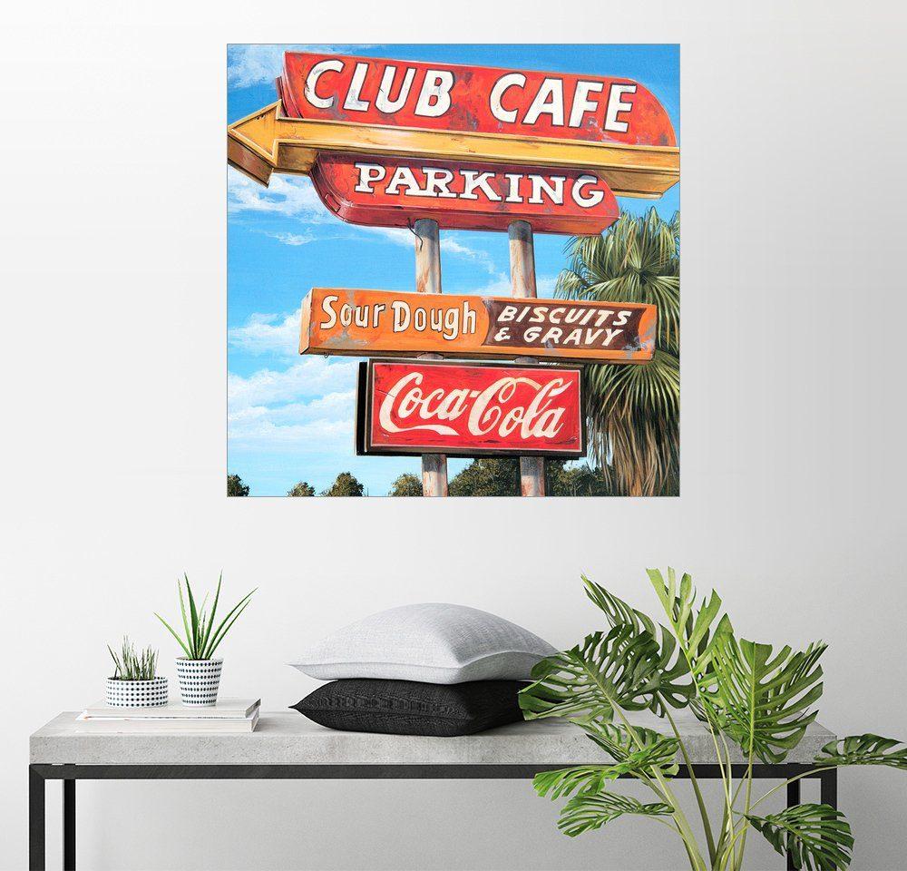 Posterlounge Wandbild - Georg Huber »Club Cafe«