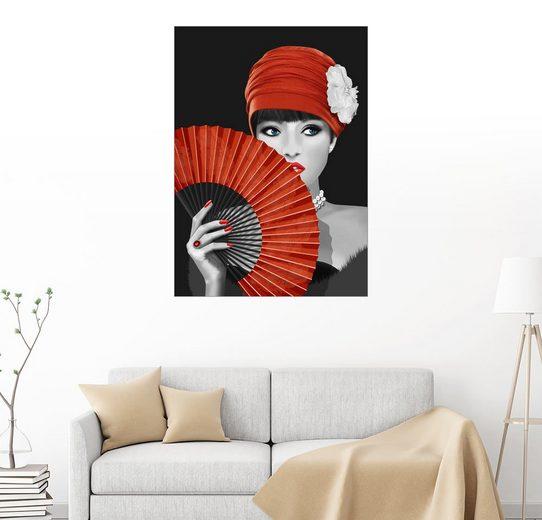 Posterlounge Wandbild - Monika Jüngling »Die Frau mit dem Fächer«