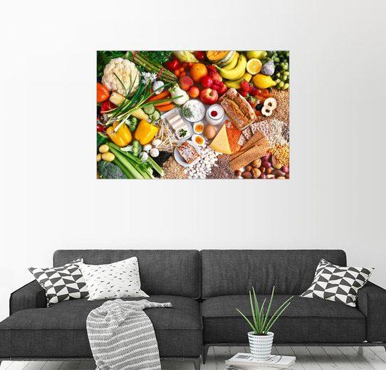 Posterlounge Wandbild »Vegetarische Lebensmittel«