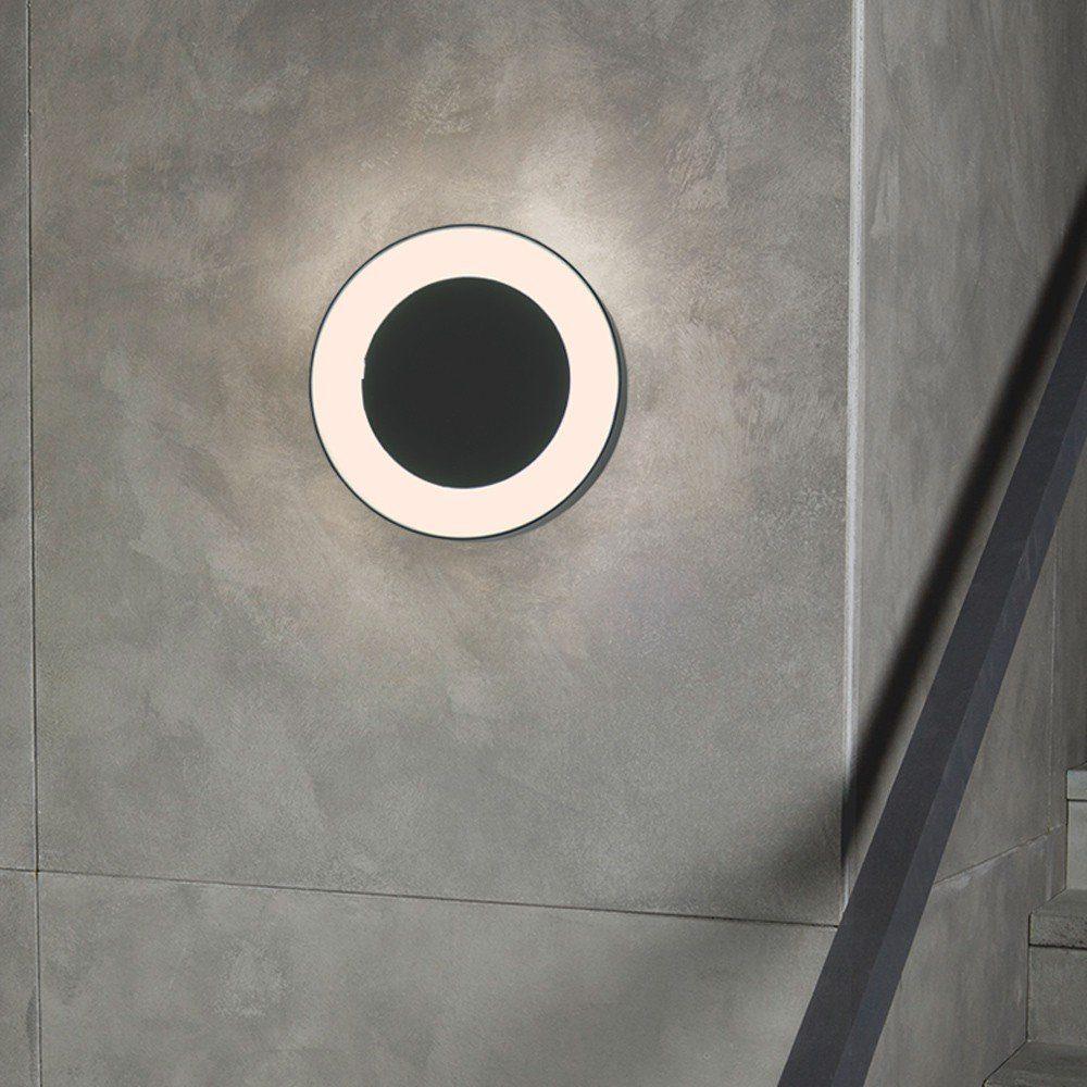 s.LUCE Aussen-Wandleuchte »Hole LED Ø 20cm Wand & Decke«