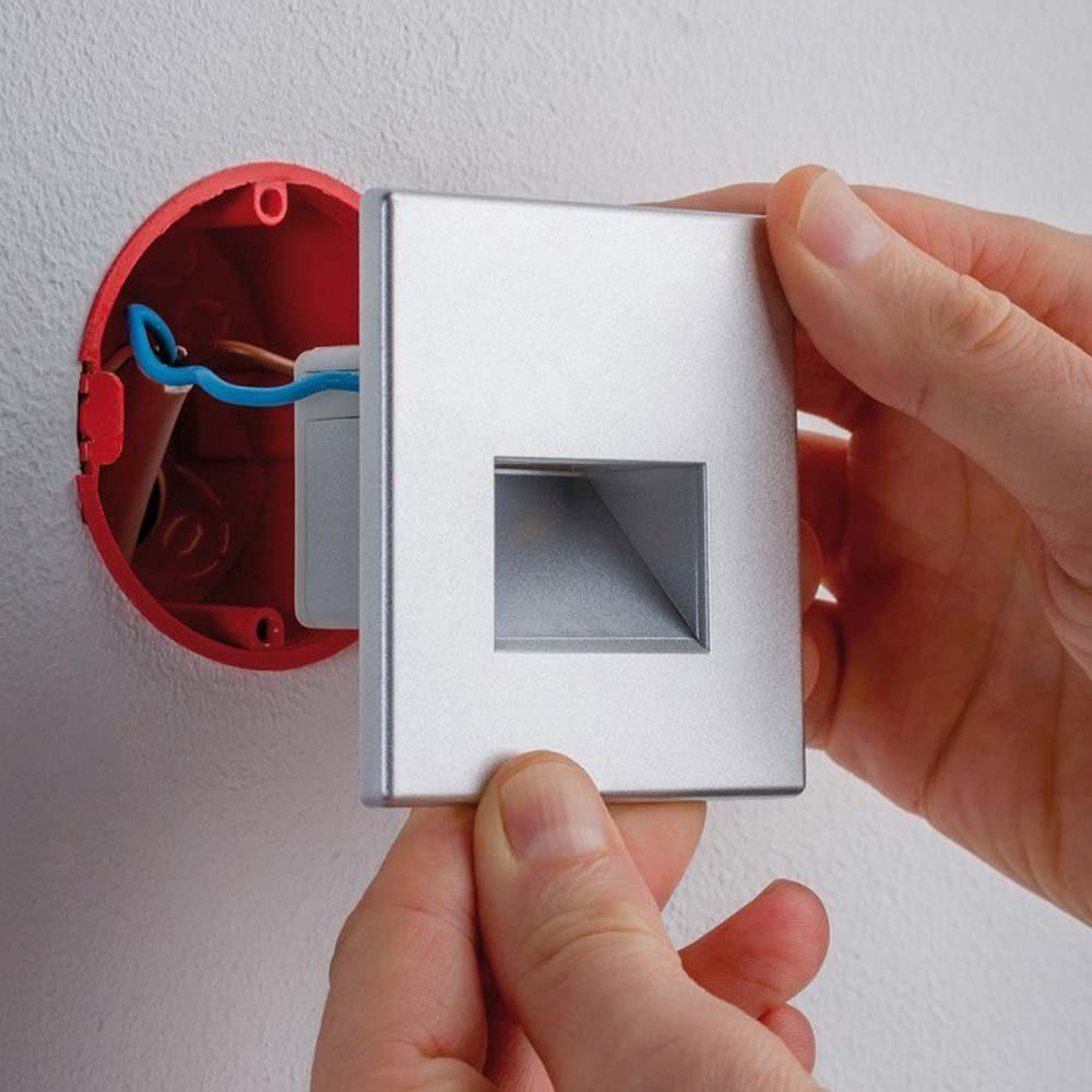 Licht-Trend Einbauleuchte »LED Wandeinbauleuchte Box 116 Lumen Alu-Matt«