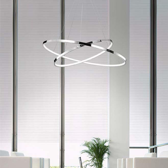 Nova Luce LED Pendelleuchte »Hoop LED Design Hängelampe Ø 80cm / 90W, 3000K«