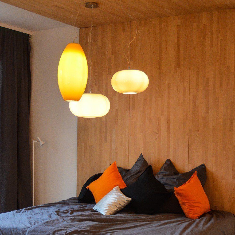 s.LUCE Pendelleuchte »Blob Up Opalglas Ø 26cm Orange«