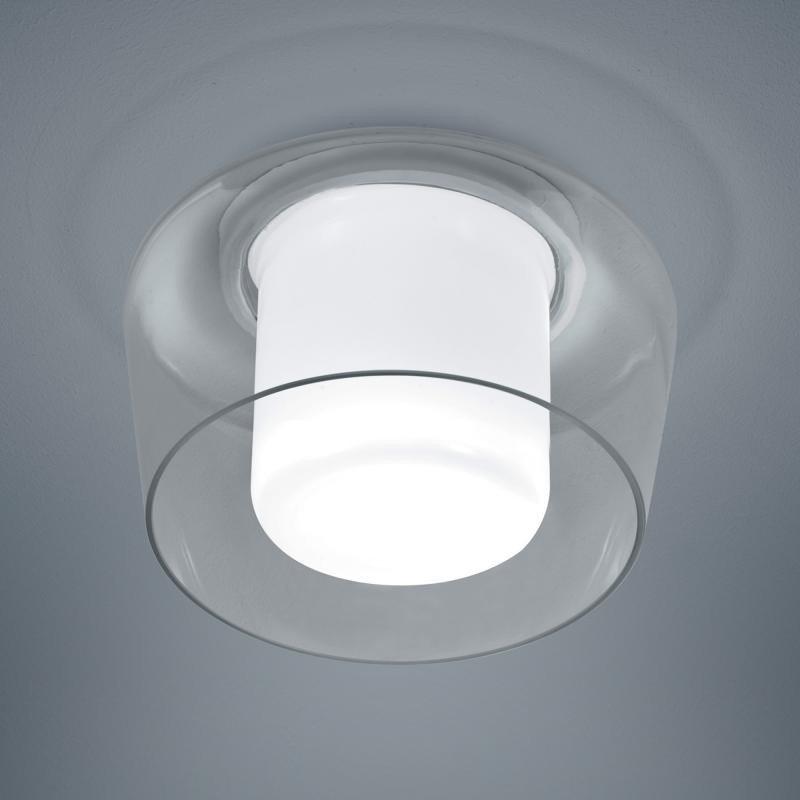 Helestra Deckenleuchte »Canio Glas Deckenleuchte Ø 26 cm / Klar« | Lampen > Deckenleuchten > Deckenlampen | Weiß | Helestra
