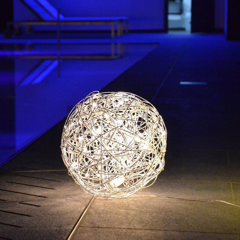 s.LUCE Aussen-Dekoleuchte »Mesh S LED-Drahtkugel Ø 30cm«