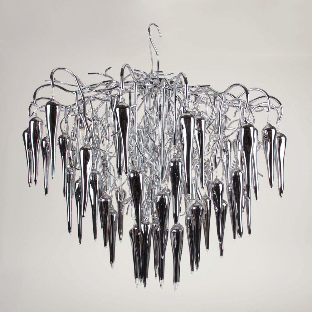 s.LUCE Pendelleuchte »Thorn XL Ø 70cm mit Glaskristallen«