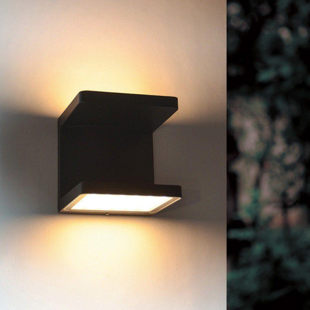 s.LUCE Aussen-Wandleuchte »Cobo LED Up&Down 2x6W Anthrazit«