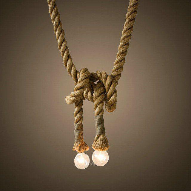 s.LUCE Pendelleuchte »Rope Seil mit Fassung«