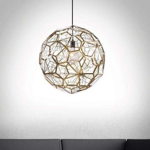 Nova Luce LED Pendelleuchte »Sedile Hängeleuchte Ø 55cm / Goldfarben«