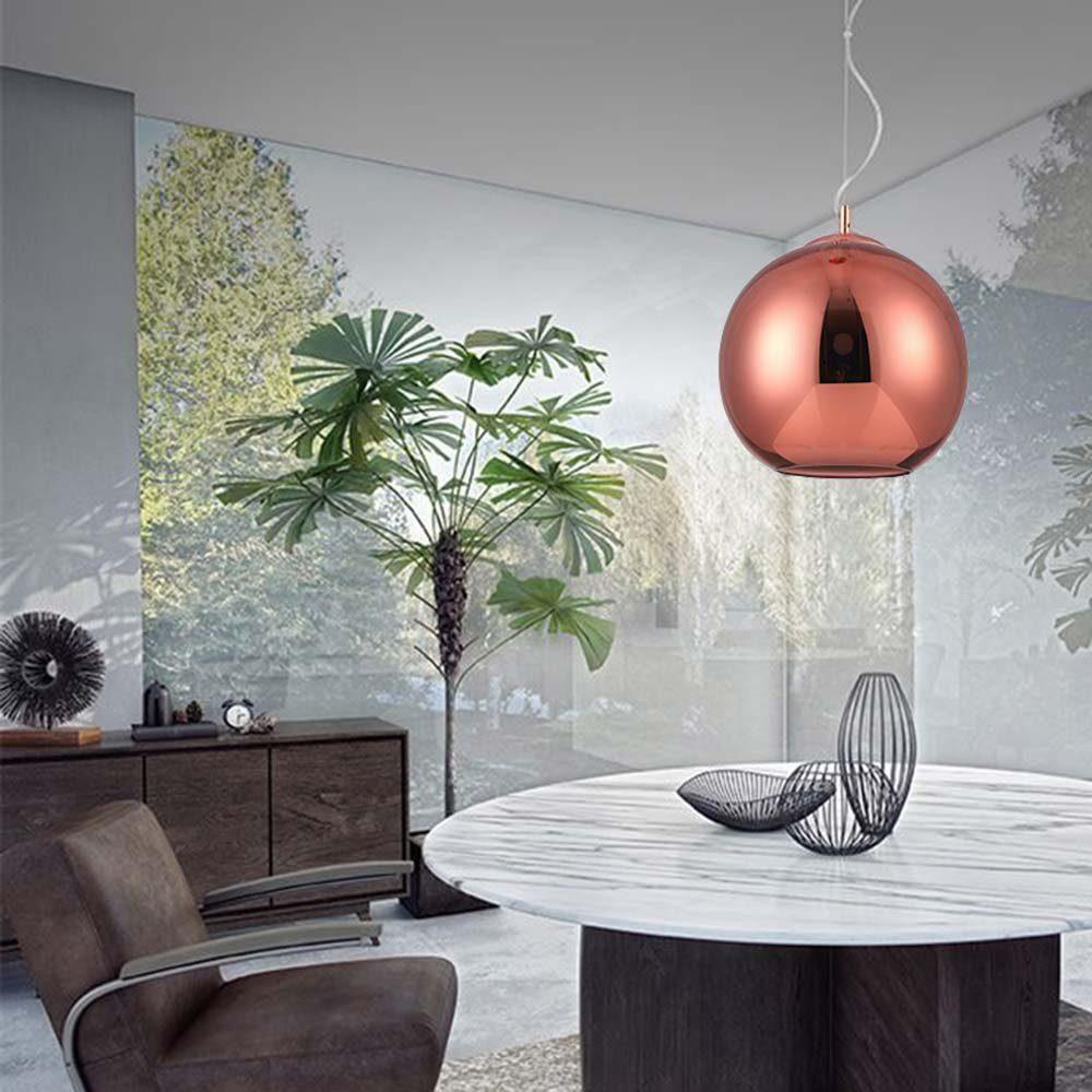 Nova Luce LED Pendelleuchte »Argento Glas Hängelampe Ø 20cm / Kupfer«