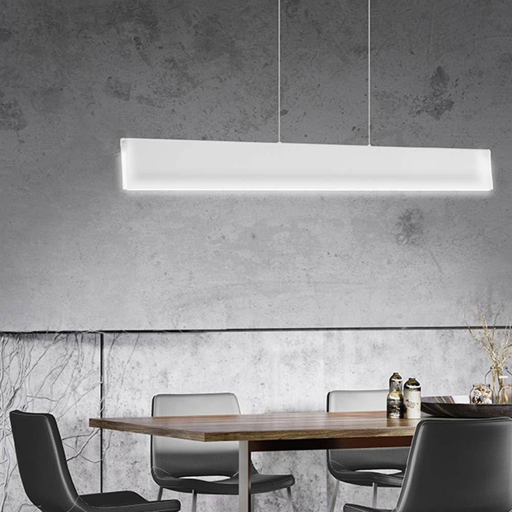 Nova Luce LED Deckenleuchte »Tiero LED Hängeleuchte 136cm / 35W, 3000K« | Lampen > Deckenleuchten > Deckenlampen | Dunkel - Weiss | Metall | Nova Luce