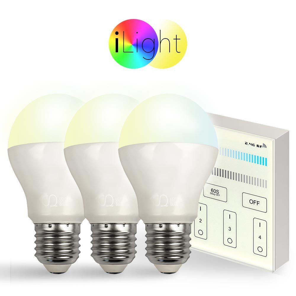 s.LUCE Leuchtmittel »3x E27 iLight LED + Touch-Panel CCT«