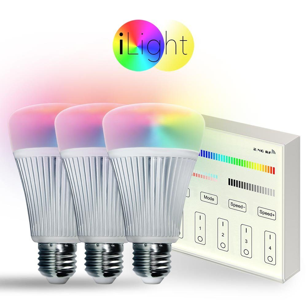 s.LUCE Leuchtmittel »3x E27 iLight LED + Touch-Panel RGB«