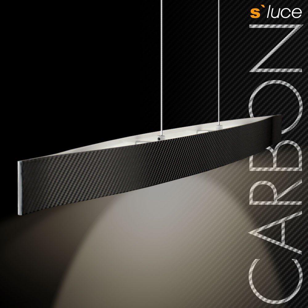 s.LUCE Pendelleuchte »Carbon Zeppa LED 97cm«
