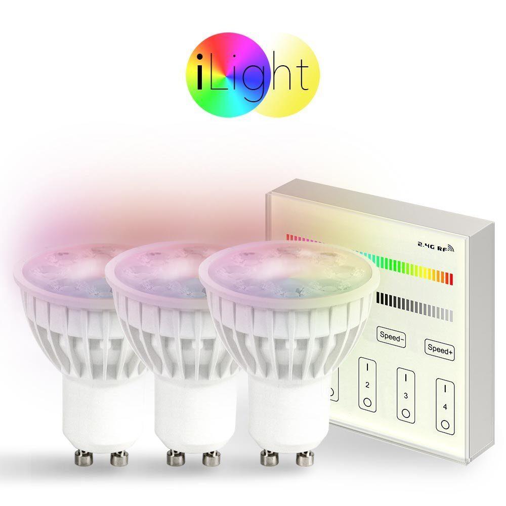 s.LUCE Leuchtmittel »3x GU10 iLight LED + Touch-Panel RGB + CCT«