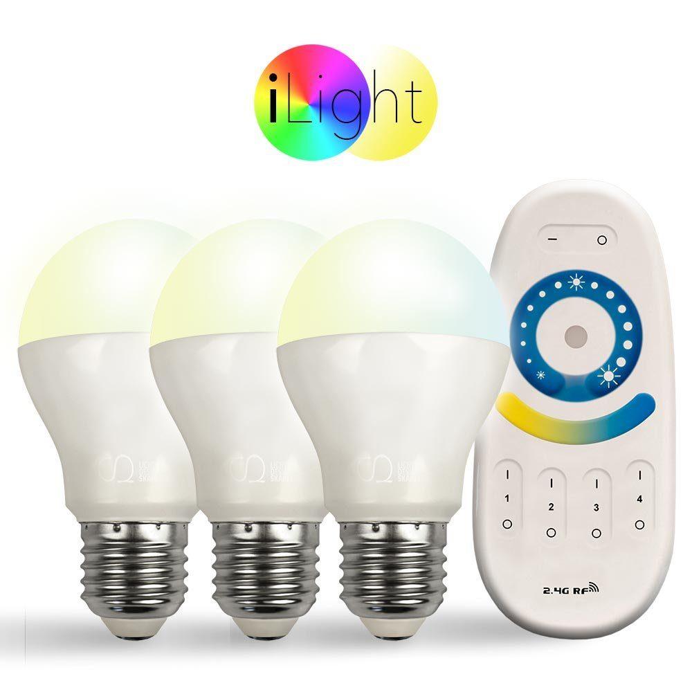 s.LUCE Leuchtmittel »3x E27 iLight LED + Fernbedienung CCT«