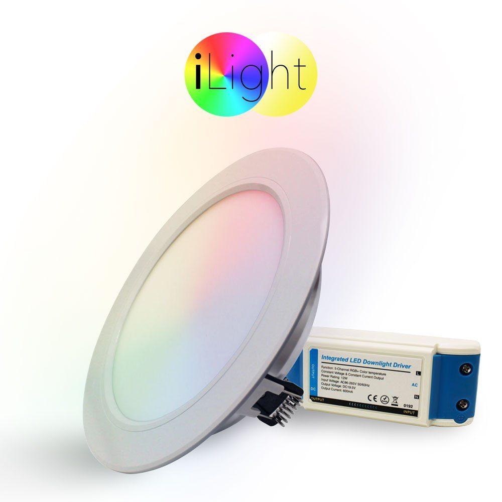 s.LUCE Einbauleuchte »iLight LED Ø18cm RGB + CCT«