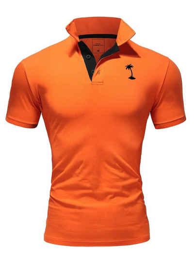 behype Poloshirt »PALMSON« mit kontrastfarbigen Details