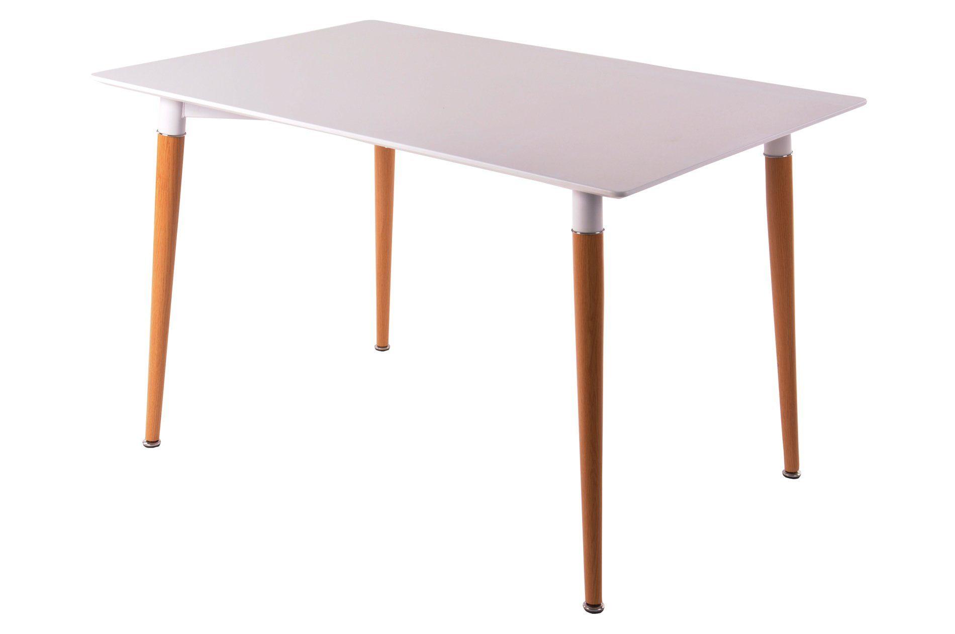 SalesFever Esszimmertisch 120x80 cm mit Metallfüßen im Holzeffekt »Ainara«