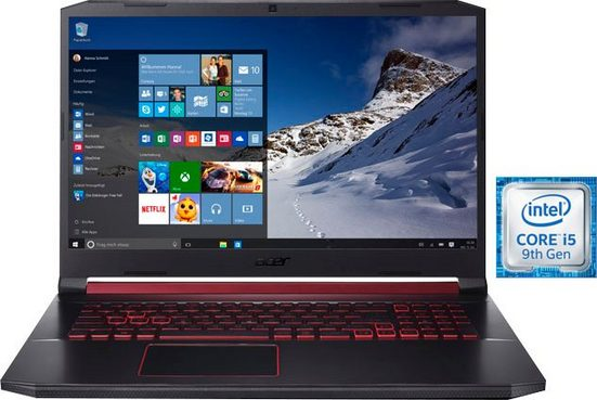 Acer Nitro 5 AN517-51-55EM Notebook (43,94 cm/17,3 Zoll, Intel Core i5, GeForce GTX 1650, - GB HDD, 512 GB SSD, inkl. Office-Anwendersoftware Microsoft 365 Single im Wert von 69 Euro)