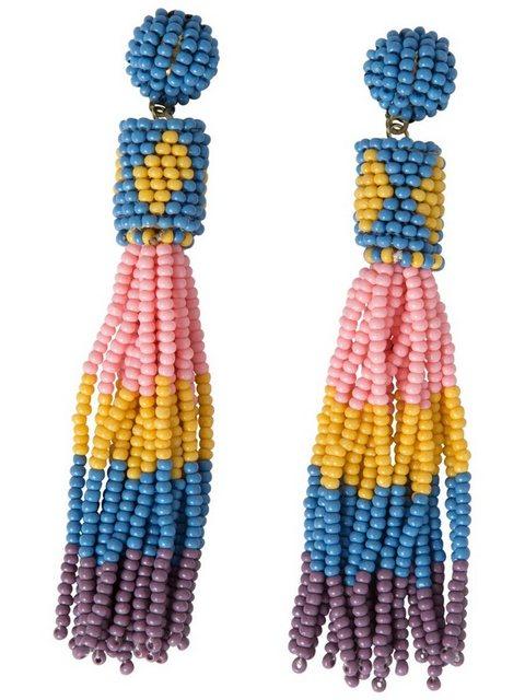 pieces -  Lange Perlen Ohrringe
