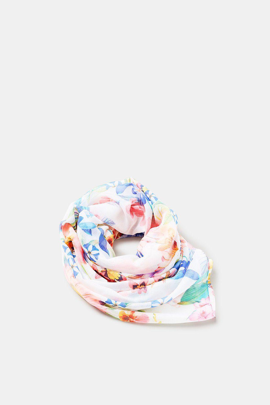 EDC BY ESPRIT Leichter Schal mit Blumen-Muster