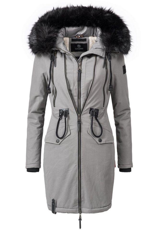 buy popular 39b21 1451b Navahoo Wintermantel »Leola« hochwertiger Winterparka mit Kunstpelz Kapuze  online kaufen | OTTO