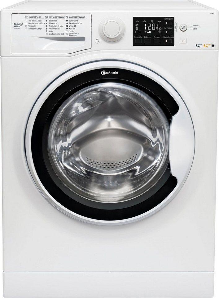 BAUKNECHT Waschtrockner, 8 kg/6 kg, 1400 U/Min