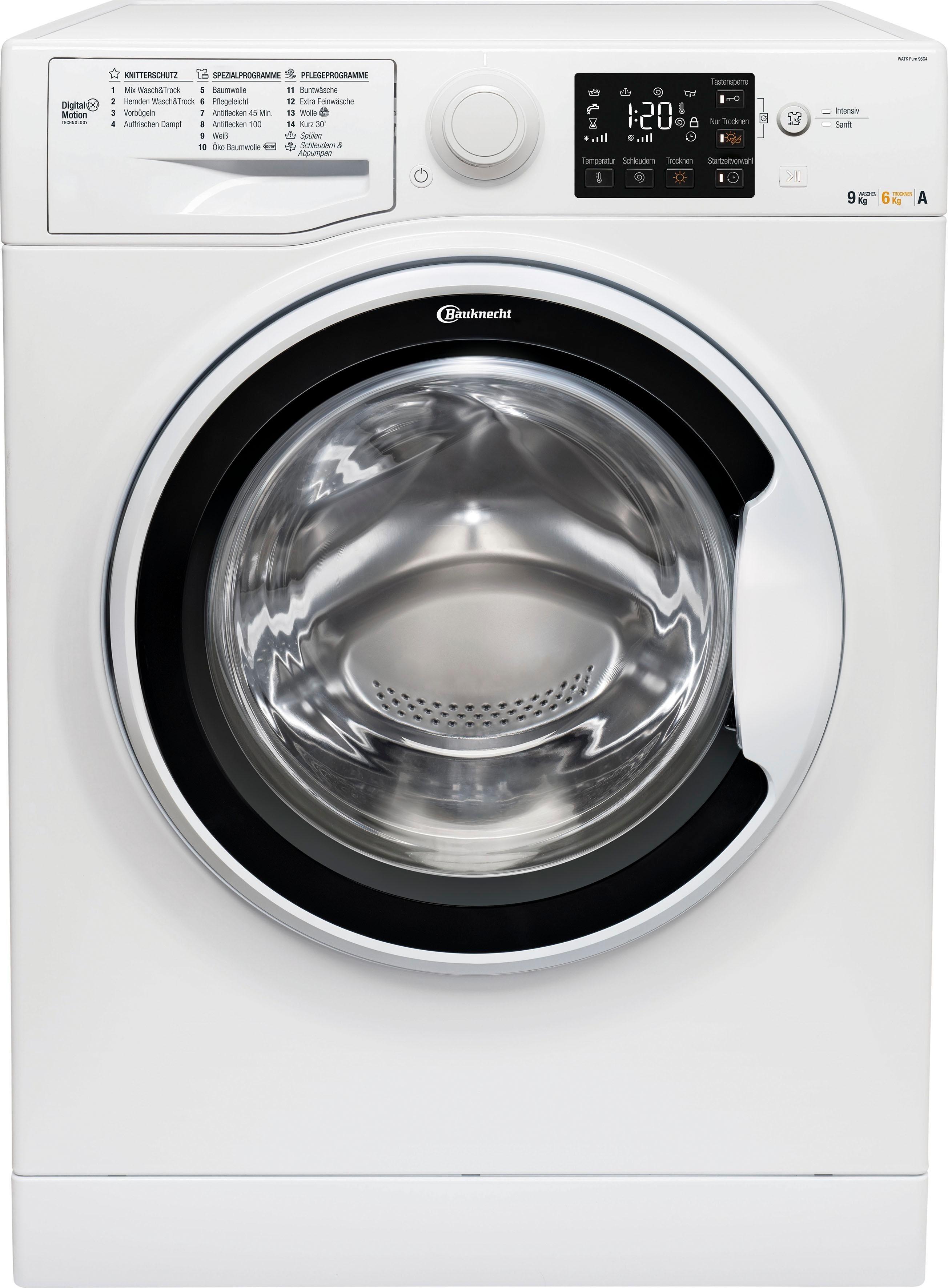 BAUKNECHT Waschtrockner, 9 kg/6 kg, 1400 U/Min