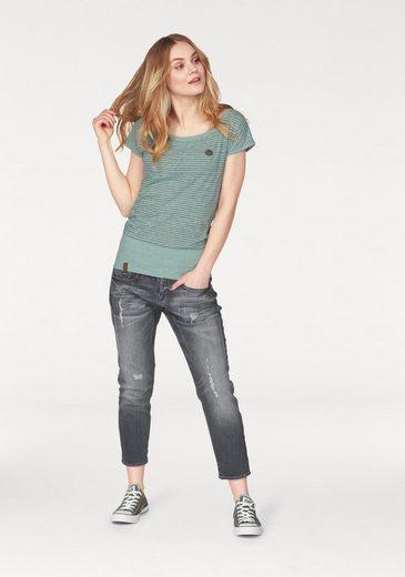 Herrlicher High Ankle fit Boyfriend Cropped« Waist jeans »shyra qx6pwqz